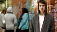 Portrait: teenage boy video