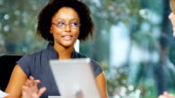 Portrait Young Female African American Businesswoman video