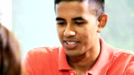 Portrait Young Male Asian Indian College Graduate video