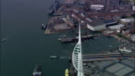 Portsmouth  - Aerial View - England, Portsmouth, United Kingdom video