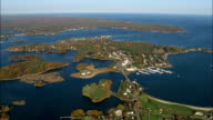 Portsmouth And Harbour Islands  - Aerial View - New Hampshire,  Rockingham County,  United States video