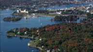 Portsmouth Harbour - Aerial View - Maine,  York County,  United States video