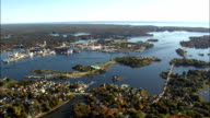 Portsmouth Harbour  - Aerial View - New Hampshire,  Rockingham County,  United States video