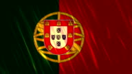 Portugal Flag Loopable Animation video
