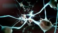 Positive emotions: Zoom through eye into brain / neuron activity video