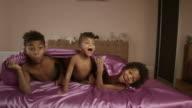 Positive of little afroamerican boys. video