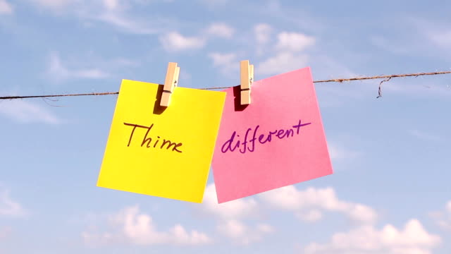 Positive thinking concept.'Think Different' video