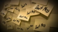 Post it note reminder Don't miss video