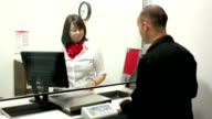 Post Office - Handing out a form (Dolly) video