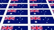 Postcards sheet with Australia national flag looped video