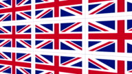Postcards with United Kingdom national flag video