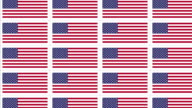 Postcards with United States national flag looped video