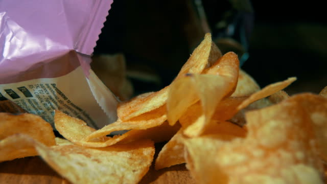 Potato Chips In Package Rotating video