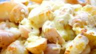 Potato gratin, close up video