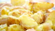 Potato gratin,close up video