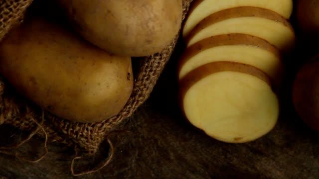 potato sliced at kitchen video