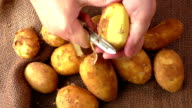 Potatoes and the process of cleaning video