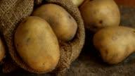 Potatoes in sack video