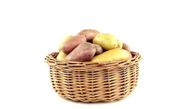 Potatoes in the basket video