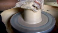 Potter Working at Pottery Wheel video