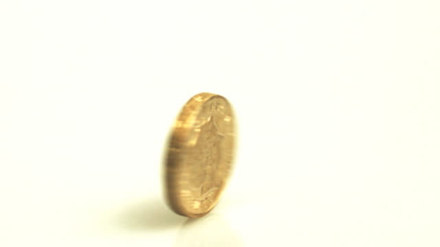 Pound coin spin video