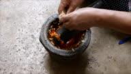 Pounding Thai chili sauce video