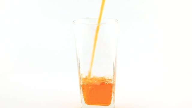 Pour orange juice video