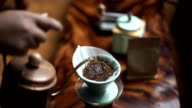 Pour over drip coffee video