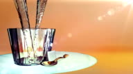 pour wine into glass animation video