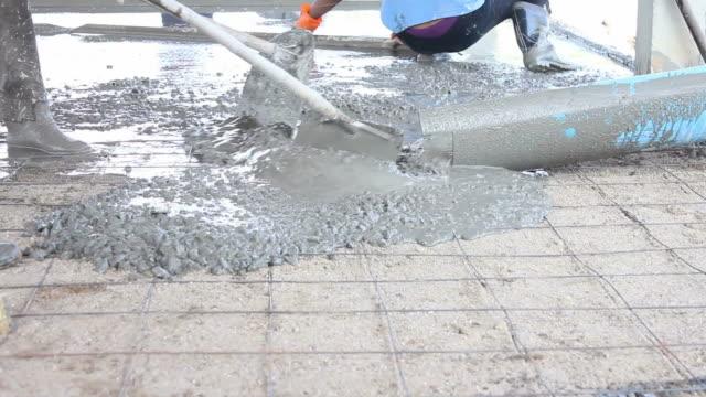 Poured concrete. video