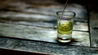 Pouring a drink (whiskey or tequila) video
