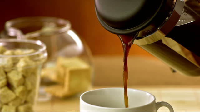 Pouring A Fresh Coffee (Super Slow Motion) video