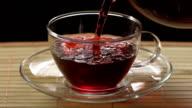 Pouring A Hibiscus Tea (Super Slow Motion) video