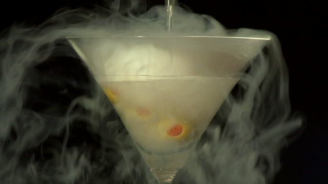 Pouring a vodka martini video