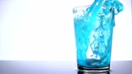 Pouring Blue Cocktail video
