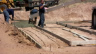 Pouring Cement for a Home Foundation video
