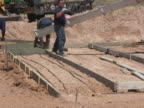 NTSC: Pouring Cement for a Home Foundation video