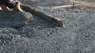 Pouring Cement for home patio video