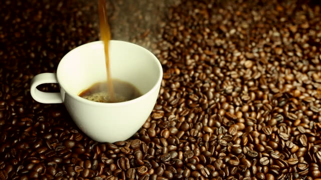 Pouring coffee video