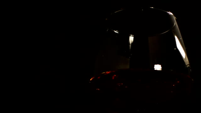 pouring cognac in glass video