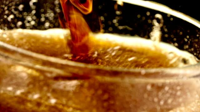 Pouring cola soda video