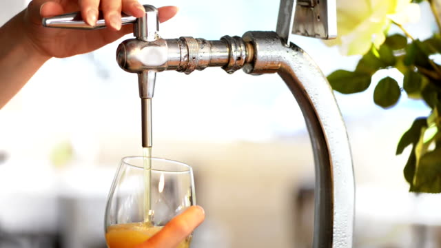 Pouring Draft Beer video