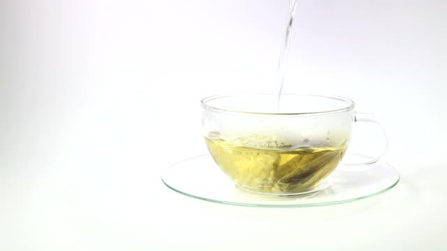 Pouring green tea video