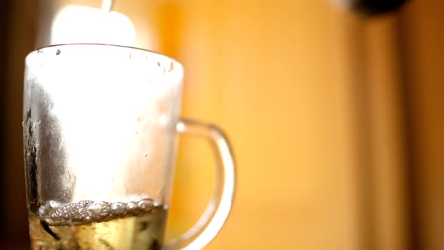 Pouring hot tea. video