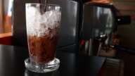 Pouring ice chocolate video