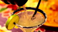 Pouring Margarita Cocktail video