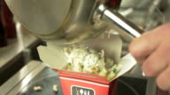 Pouring Pasta in a Take Out Box video