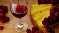 Pouring Red Wine Into Glass. video