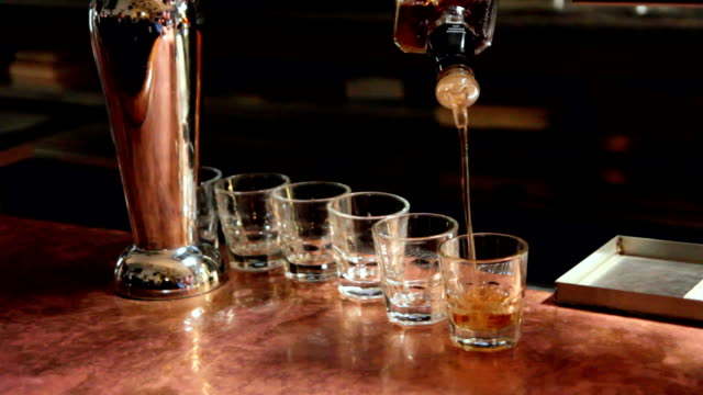 Pouring Shots video