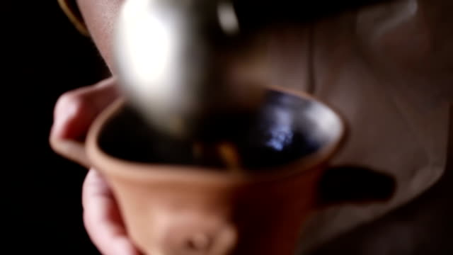 Pouring soup video
